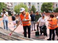 Atakum'da çevre bilinci için çöp toplama etkinliği
