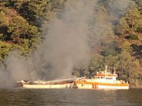 Fethiye'de 'Medsum' isimli gulette yangın çıktı: 1 ölü, 4 yaralı...
