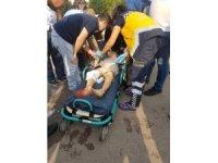 Bisikletten düşen çocuğun ayağına demir saplandı