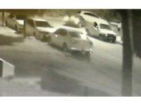Polisten kaçarken kaza yapmıştı, o anlar güvenlik kamerasına yansıdı