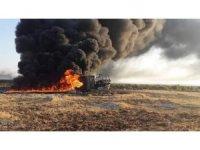 Şanlıurfa'da akaryakıt tankeri alev alev yandı