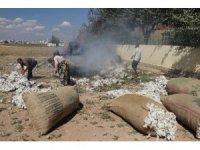 Şanlıurfa'da tonlarca pamuk alev alev yandı