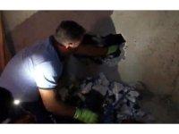 İki duvar arasında mahsur kalan kediyi itfaiye kurtardı