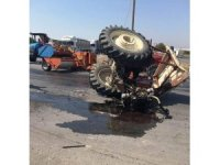 Traktör sürücüsü yaşam mücadelesini kaybetti