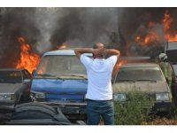 Bursa'da 24 aracın küle döndüğü yangını çıkaran kişi yakalandı