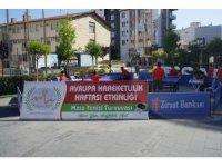 Nevşehir'de açık alan masa tenisi turnuvası başladı
