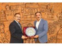 Gaziantep Üniversitesi Rektörü Gür'den NEVÜ Rektörü Bağlı'ya ziyaret
