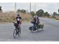 Fransa'dan tandem bisikletle Türkiye'ye geldiler