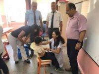 Milas'ta okul aşılamaları başladı