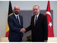 Cumhurbaşkanı Recep Tayyip Erdoğan'ın New York'ta Belçika Başbakanı Charles Michael'i kabulü başladı.
