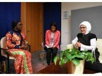 Emine Erdoğan, Afrika Birliği Komisyonu Barış, Kadın ve Güvenlikten sorumlu özel temsilcisi Bıneta Dıop ile görüştü