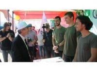 Rektör Uysal, Oryantasyon etkinlik alanını ziyaret etti