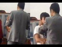 İzmir'de okulda skandal görüntü! Müdür yardımcısından öğrenciye 'eşofman' dayağı...