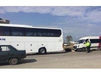 Keşan Otogarı'nda otobüsler denetlendi, çığırtkanlara tutanak tutuldu