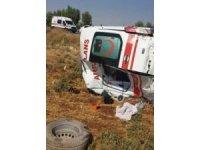 Kazadan dönen ambulans kaza yaptı