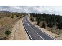 Kaman ilçesi Ömerhacılı Köyü, yol yapım çalışmaları tamamlandı