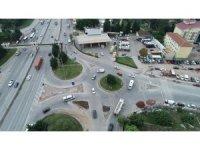 Çenesuyu Kavşağı'nda trafik güvenliği arttırıldı