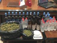 Alaşehir'de kaçak içki operasyonu