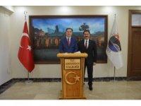 Kamu Başdenetçisi Şeref Malkoç, Ardahan Valisi Mustafa Masatlı'yı ziyaret etti