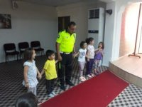 Bozyazı'da miniklere trafik eğitimi