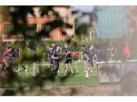 Kayserispor'da futbolcular idmana çıktı