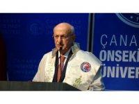 İsmail Kahraman'a ÇOMÜ'de fahri doktora unvanı verildi