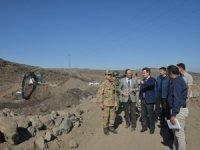 Iğdır Valisi Ünlü, Dilucu Sınır hattında incelemelerde bulundu