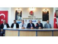 TSO Başkanı Sadıkoğlu Malatya Gazeteciler Cemiyetini ziyaret etti