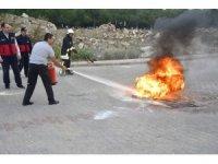 Biga İtfaiyesinden Biga Devlet Hastanesinde yangın tatbikatı