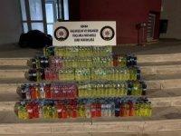 Tekel bayisinden 209 litre kaçak içki çıktı