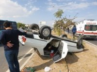 Elazığ'da tır ile çarpışan otomobil takla attı: 3 yaralı