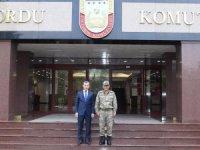 Başkan Çınar'dan, 2. Ordu'ya destek ziyareti