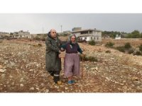 Derede mahsur kalan yaşlı kadını ekipler kurtardı