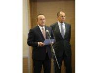 Dışişleri Bakanı Çavuşoğlu Türkiye-Rusya arasında imzalanan Mutabakat Muhtırası'nı okudu