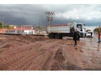 Ahlat'ta şiddetli yağmur sele neden oldu