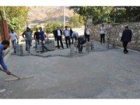 Sason'da parke taşı döşeme çalışmaları başladı