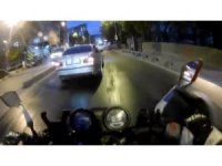 İstanbul'da motosiklet sürücülerinin ölümden kıl payı kurtulduğu kazalar kamerada