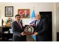 Başkan Pekmezci'den Aksun'a ziyaret