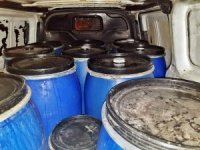 Yılbaşı öncesi 12 varil kaçak içki ele geçirildi