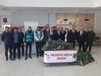 Kars Cumhuriyet Başsavcılığı fidan dağıttı