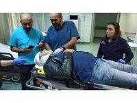 Ticareti taksi motosiklete çarptı: 1 yaralı