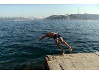 İstanbul'da Kasım ayında denize girdiler
