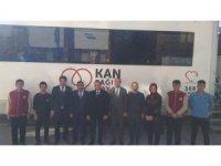 Horasan'da öğretmen ve öğrencilerden Barış Pınarı Harekatı'na kan bağışlı destek