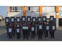 Öğrenciler deprem tatbikat yaptı