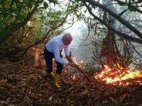 Giresun'da örtü yangını