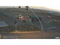 Kars'ta 1 kişinin öldüğü kaza kameraya yansıdı