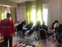 Hizan'da Kızılay'a kan bağışı kampanyası
