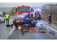 Tekirdağ'da yağışla gelen feci kazada 2 kadın öldü 3 yaralı