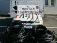 Samsun'da jandarmadan kablo hırsızlarına operasyon: 3 gözaltı