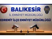 Balıkesir polisi 9 silah ele geçirdi
